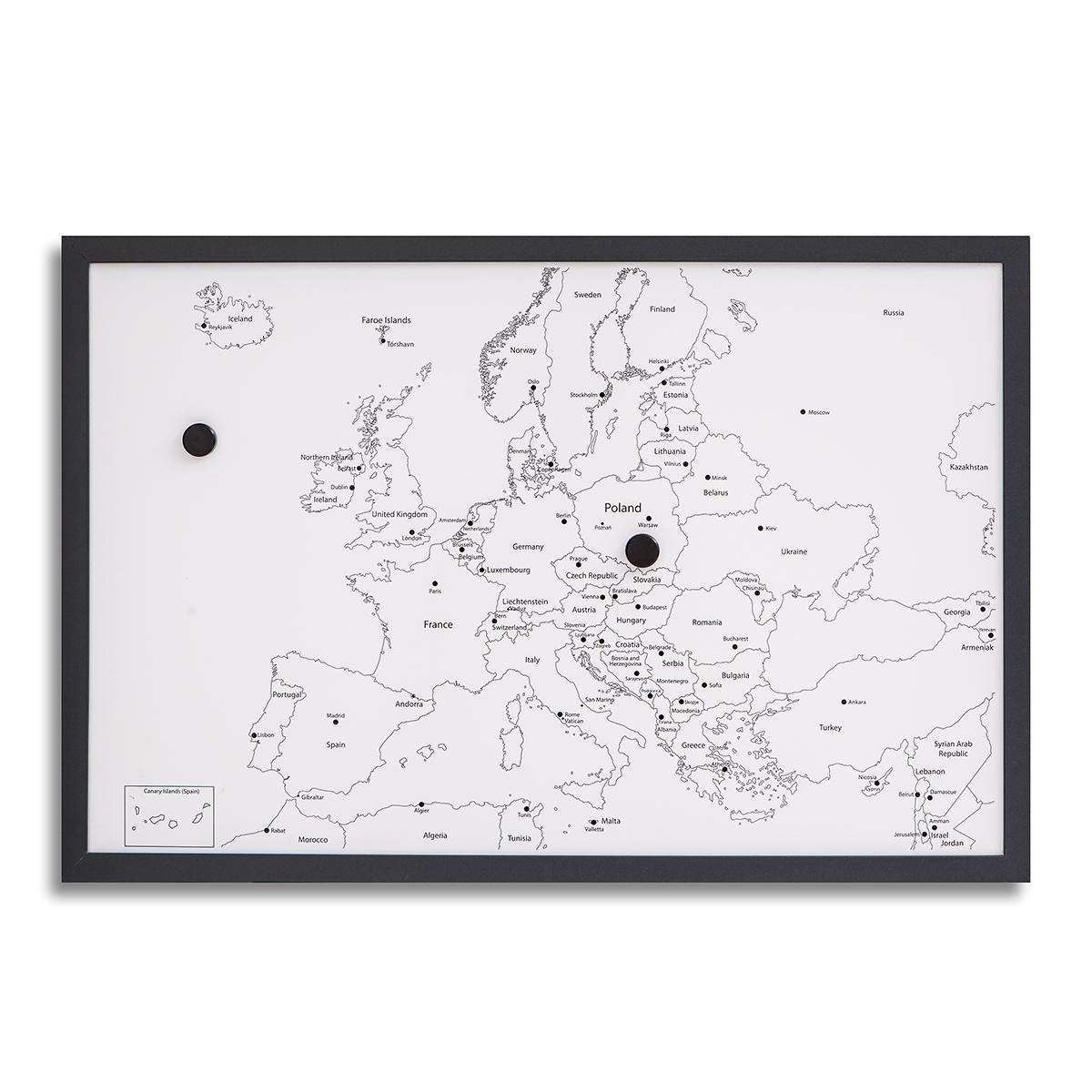 Kreatywna Magnetyczna Mapa Europy 60 Cm X 40 Cm Sklep