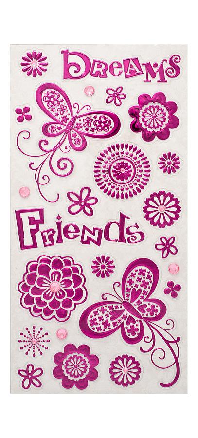 FOIL EMBOSSED STICKER - FRIENDS - Scrapbooking & Cardmaking